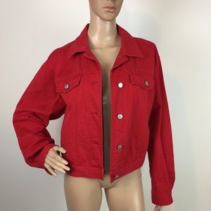 Ralph Lauren denim jacket trucker Red suze M cotto